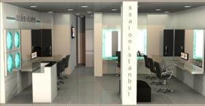 Ssalon Istanbul Kuaför Salonu, Maslak - Iç mekan proje ve uygulama
