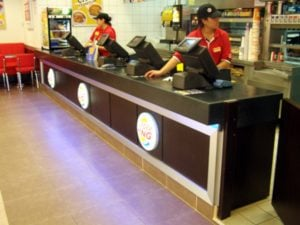 Burgerking, Uphhill, Atasehir - Servis bankosu